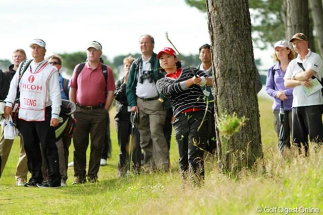 2011年 全英リコー女子オープン 2日目 ヤニ・ツェン やはり本命が浮上してきた!豪快なゴルフでリンクスコースをねじ伏せるヤニ・ツェン