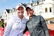 2011年 全英リコー女子オープン 3日目 カロリン・マソン(左)&ソフィー・ポボフ