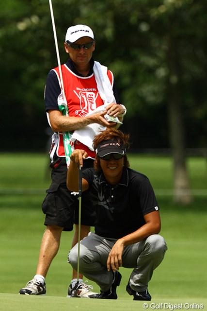 我慢のゴルフでスコアを2つ伸ばし、単独3位フィニッシュです