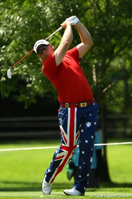 2011年 サン・クロレラ クラシック 最終日 K.バーンズ 今日はオーストラリア国旗柄のパンツでした。4位タイ