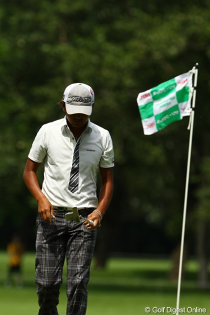 昨日のゴルフはどこへやら・・・。スコアを伸ばせず6位タイフィニッシュ。
