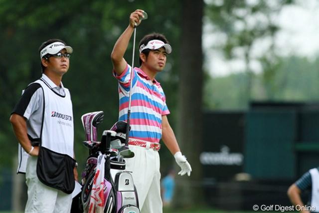 池田勇太のショットの安定感は前週の優勝時のような出来。パットで盛り返せるか