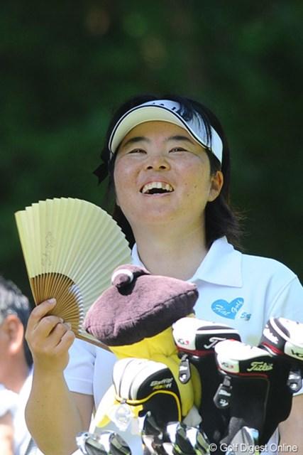 2011年 meijiカップ 最終日 不動裕理 これぞまさしく「ご満悦」の笑顔やおまへんか~!公私共に充実っちゅうやっちゃネ!16位T