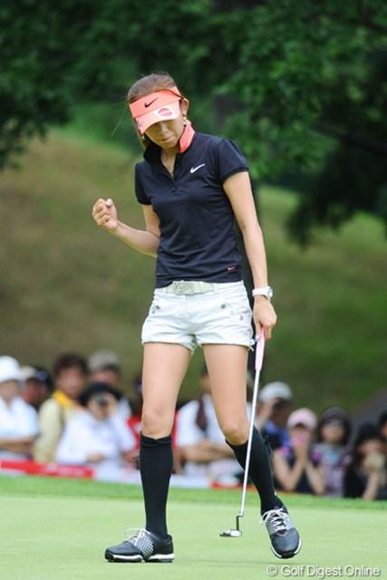 「フジサンケイレディスクラシック」の初勝利以降、久々にトップ10に名を連ねた金田久美子