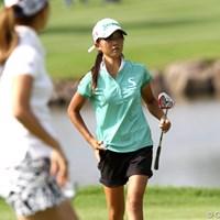 手前は上田桃子、もう一人の桃子ちゃん登場です 2011年 NEC軽井沢72ゴルフトーナメント 初日 岸部桃子