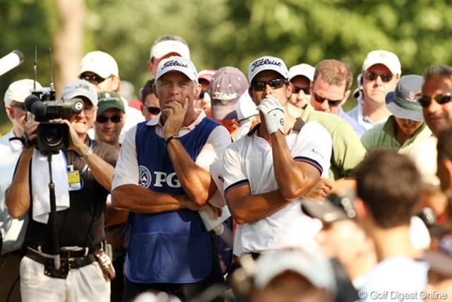 2011年 全米プロゴルフ選手権 2日目 アダム・スコット&スティーブ 早くも仕草が似てきた二人。良いコンビだ