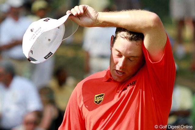 2011年 全米プロゴルフ選手権 3日目 リー・ウェストウッド 涼しいイギリスから来たので、アトランタの暑さに完敗?というわけではなく、みんな暑いんです