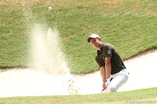 2011年 全米プロゴルフ選手権 3日目 ルーク・ドナルド 優勝争いに加わっていたが、16番のボギー、18番のダブルボギーで失速。明日、どこまでスコアを伸ばしせるかに期待