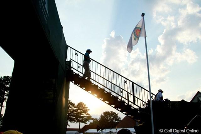 2011年 全米プロゴルフ選手権 3日目 雷雨 雷雲はコースのある地域を避けて抜けていった。明日も暑くなりそうだ
