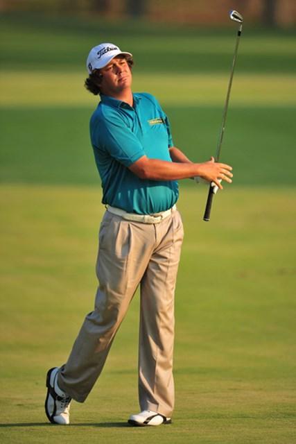 2011年 全米プロゴルフ選手権 3日目 ジェイソン・ダフナー 明日はJ.ダフナーが追いかける立場になるのか、それともリードを守る立場なのか…(Stuart Franklin/Getty Images)