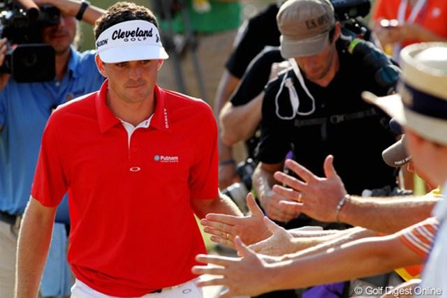 2011年 全米プロゴルフ選手権 最終日 キーガン・ブラッドリー バーディを決めたときのアクションも大きく、一気にファンの心をつかんだ