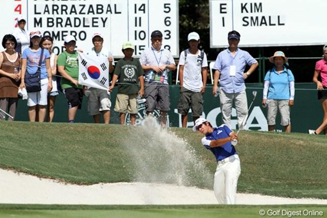 2011年 全米プロゴルフ選手権 最終日 キム・キョンテ 地元の韓国人ファンが応援に駆けつけた。59位タイでフィニッシュ。来年は米ツアーが主戦場か?