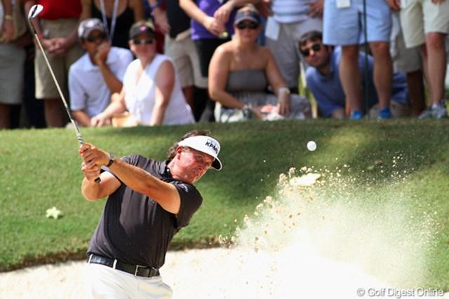 2011年 全米プロゴルフ選手権 最終日 フィル・ミケルソン トータルイーブンパーで終戦。2001年以降のコース改造で「過去の経験を活かせなかった」らしい