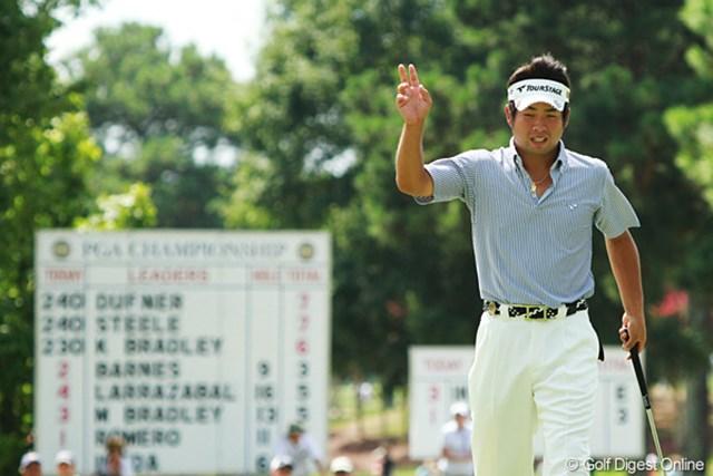 2011年 全米プロゴルフ選手権 最終日 池田勇太 前半6バーディとして貯金を作ったが、後半に使い果たしてホールアウト。アウト・インの難易度の差がそのままスコアに出てしまった