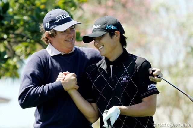 2011年 全米プロゴルフ選手権 最終日 ジェイソン・ダフナー&今田竜二 普段から仲のいいダフナーと今田竜二 2人とも今後メジャーを勝つチャンスはあるはずだ