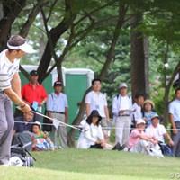 9番でグリーン奥からのアプローチを決めるイーグル! 2011年 関西オープンゴルフ選手権競技 2日目 ネベン・ベーシック
