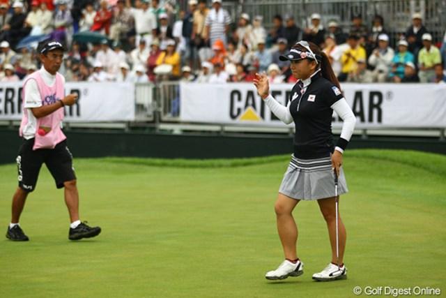 2011年 CAT Ladies 2日目 有村智恵 バーディを重ねて単独トップに躍り出た有村智恵