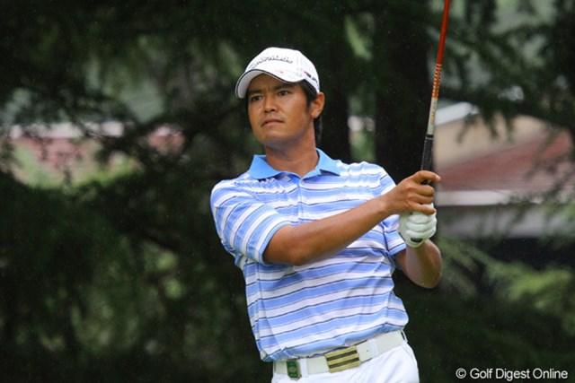 2011年 関西オープンゴルフ選手権競技 3日目 武藤俊憲 ボギー先行でリズムを崩し5位タイに後退した武藤俊憲