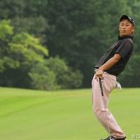 この日はおとなし目なウェアだがパフォーマンスでギャラリーを魅了した 2011年 関西オープンゴルフ選手権競技 3日目 田保龍一