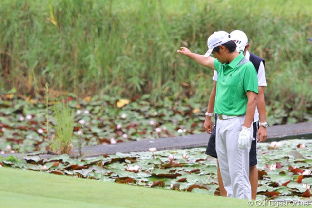 2日目に池田勇太が2度入れた8番で、この日は武藤もはまってしまった