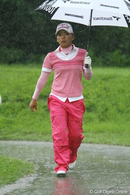 「雨でも集中集中!」