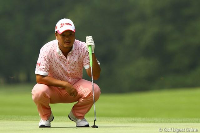 2011年 VanaH杯KBCオーガスタゴルフトーナメント 初日  小田孔明 パットに助けられたという小田孔明。爆発力はツアー屈指。スコアの伸ばし合いも望むところだ