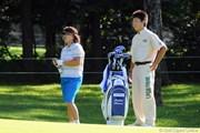 2011年 ニトリレディスゴルフトーナメント 初日 木村敏美親子