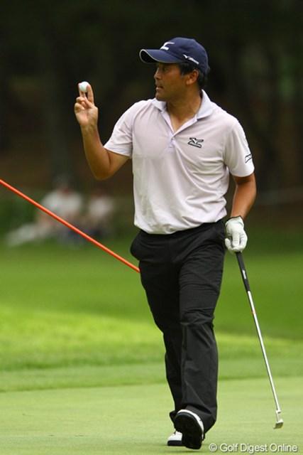 2011年 VanaH杯KBCオーガスタゴルフトーナメント 2日目 手嶋多一 13番Par5でイーグルゲット!今日は2つのイーグルなど、66でラウンド。地元で復活優勝狙います