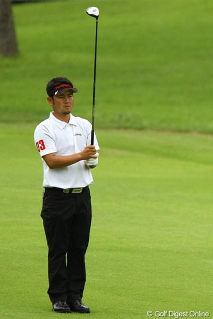 2011年 VanaH杯KBCオーガスタゴルフトーナメント 2日目 上平栄道 身長158cmの小兵ががんばってます
