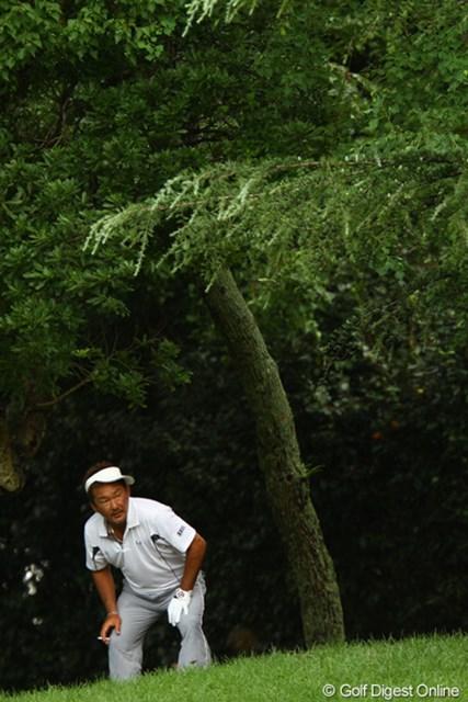 2011年 VanaH杯KBCオーガスタゴルフトーナメント 2日目 立山光広 立山さんのサンバイザー姿って、かなりレア物ですよね?