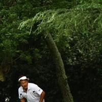 立山さんのサンバイザー姿って、かなりレア物ですよね? 2011年 VanaH杯KBCオーガスタゴルフトーナメント 2日目 立山光広