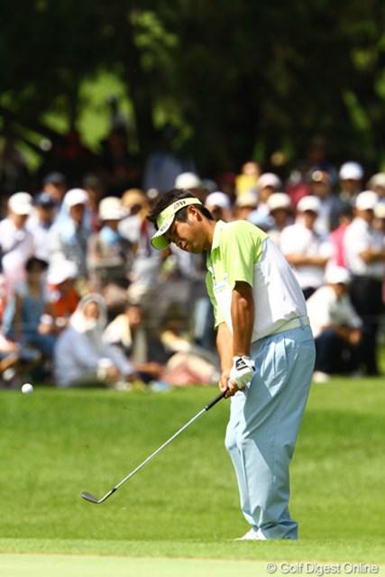 2011年 VanaH杯KBCオーガスタゴルフトーナメント 3日目 池田勇太 1番スタートホールでいきなりチップインバーディ!
