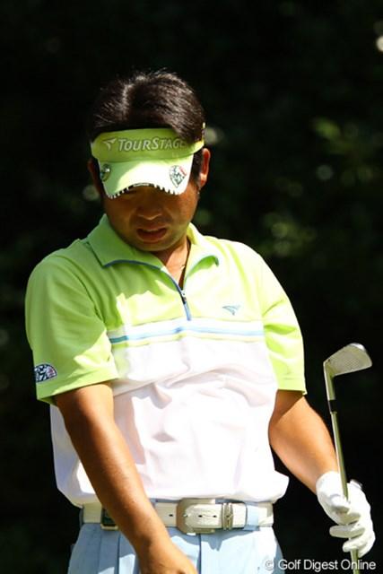 2011年 VanaH杯KBCオーガスタゴルフトーナメント 3日目 池田勇太 3番Par3でミスショット。このボギーから歯車が狂い始める