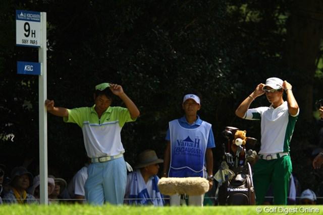 2011年 VanaH杯KBCオーガスタゴルフトーナメント 3日目 池田勇太・石川遼 「今日は俺が日陰。遼が日向だな。」