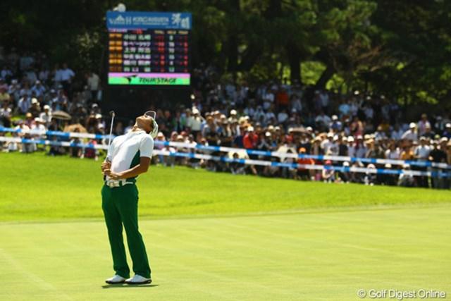 2011年 VanaH杯KBCオーガスタゴルフトーナメント 3日目 石川遼 9番Par5、難しいセカンドショットでグリーンを捉えるものの、惜しくもイーグルならず