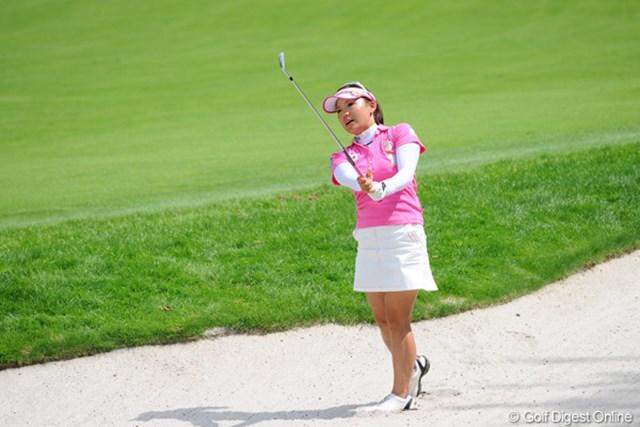 2011年 ニトリレディスゴルフトーナメント 最終日 有村智恵 有村智恵は流れを呼び込めず、自身初の2週連続優勝を逃す結果に