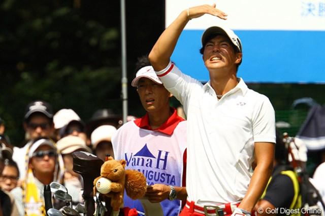 2011年 VanaH杯KBCオーガスタゴルフトーナメント 最終日 石川遼 強い日差しが降り注ぎ、湿度が高い一日でした。「暑っちぃ~!」