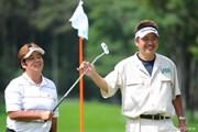 2011年 ニトリレディスゴルフトーナメント 最終日 表純子夫婦