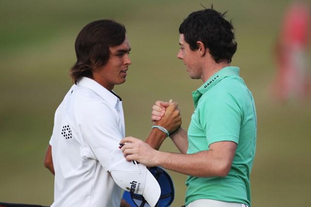 2011年の「全英オープン」では、R.ファウラーとR.マキロイの同組対決に多くの注目が集まった (Ross Kinnaird /Getty Images)