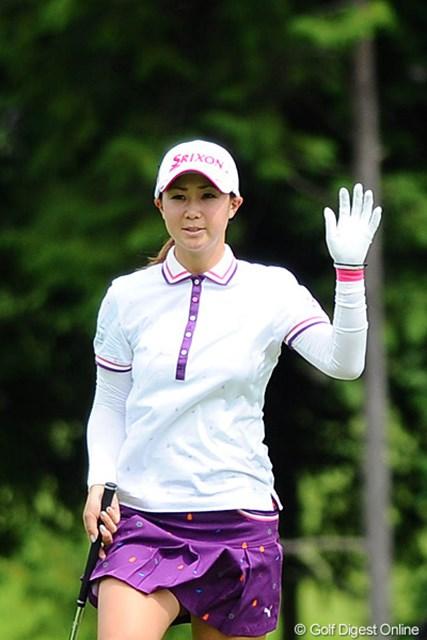 2011年 ゴルフ5レディス 初日 古閑美保  先週は子分のリッちゃんが勝ったからなァ。後半に3つ伸ばして親分の面目を保ちました!23位T