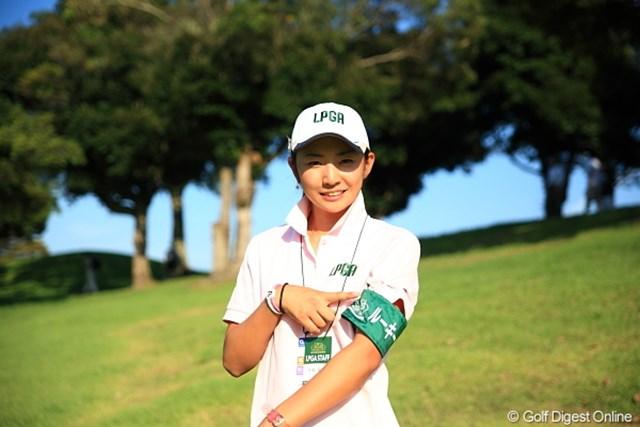 2011年 日本女子プロゴルフ選手権大会コニカミノルタ杯 初日 斉藤愛璃 ルーキーキャンプ中の斉藤プロ