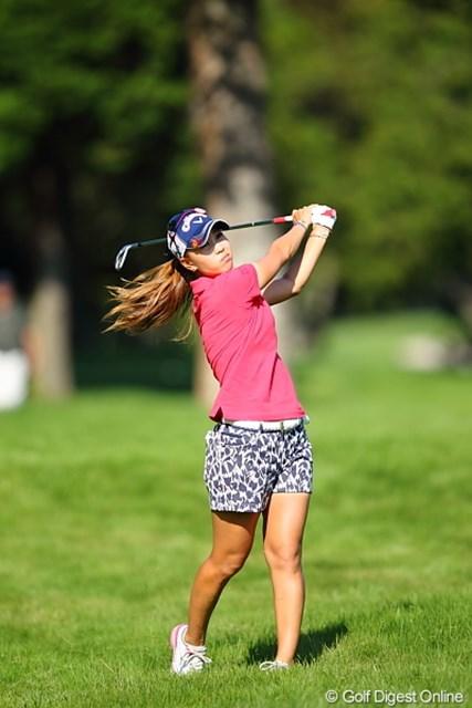 2011年 日本女子プロゴルフ選手権大会コニカミノルタ杯 初日 上田桃子 桃子もコースに苦戦していた