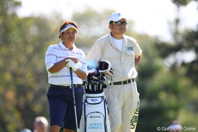 2011年 日本女子プロゴルフ選手権大会コニカミノルタ杯 初日 表純子 夫婦で頑張る夫婦ペアーその1/表プロ