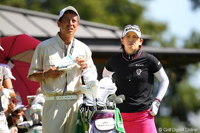 2011年 日本女子プロゴルフ選手権大会コニカミノルタ杯 初日 竹末裕美 夫婦で頑張る夫婦ペアーその2/竹末プロ