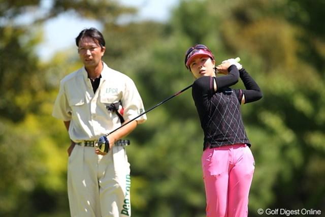 2011年 日本女子プロゴルフ選手権大会コニカミノルタ杯 初日 下川めぐみ 夫婦で頑張る夫婦ペアーその3/新婚の下川プロ