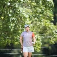 シャンシャンあくびする姿もパンダっぽいぞ! 2011年 日本女子プロゴルフ選手権大会コニカミノルタ杯 2日目 フェン・シャンシャン