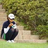 なんだか寂しげな瞬間? 2011年 日本女子プロゴルフ選手権大会コニカミノルタ杯 2日目 鈴木舞子