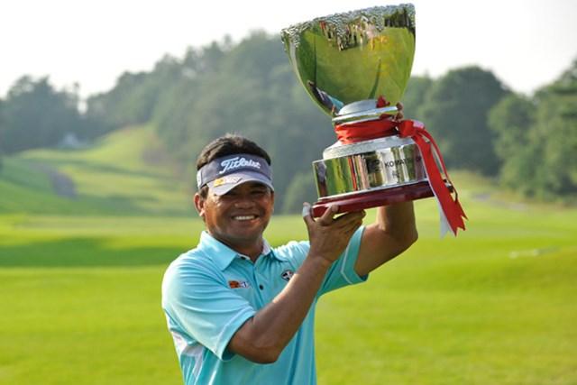 2011年 コマツオープン 最終日 フランキー・ミノザ 参戦3試合目にしてツアー初優勝を果たしたフランキー・ミノザ(写真提供:日本プロゴルフ協会)