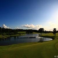 試合が無事おわり静けさを取り戻したキングフィールズGC。 2011年 日本女子プロゴルフ選手権大会コニカミノルタ杯 最終日 キングフィールズGC