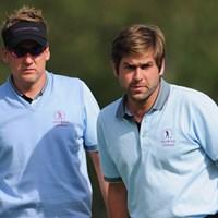 R.ロック&I.ポールターのイングランドペアも勝利し、ポイント獲得に貢献した(Stuart Franklin /Getty Images) 2011年 ヴィヴェンディ セベトロフィー 初日 ロバート・ロック&イアン・ポールター
